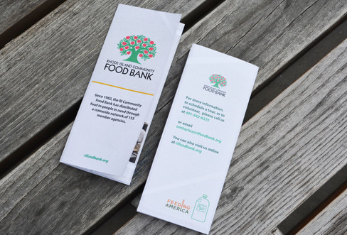 RI Food Bank | Front and Back Covers