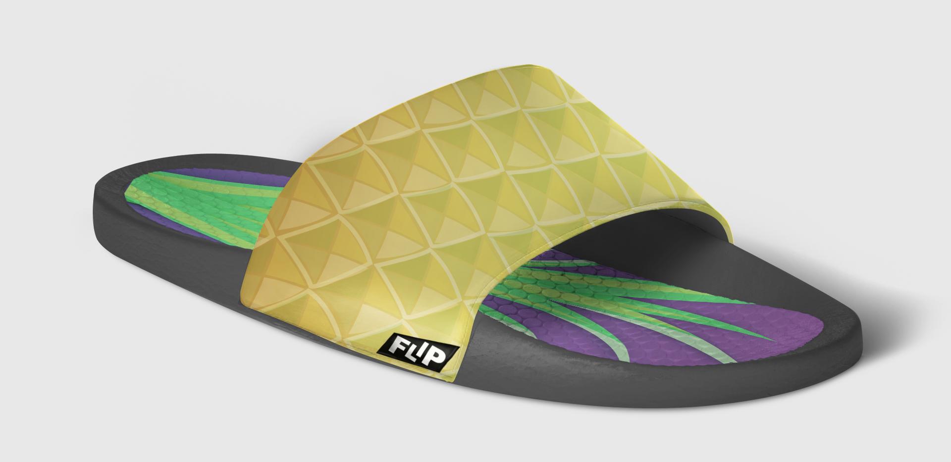 FLIP Apparel Co. | Pineapple Slide Side