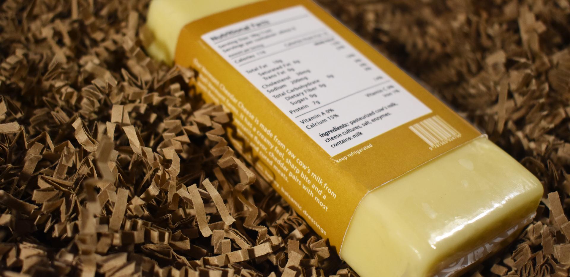 Fumé et Salé | Vermont Cheddar Cheese Back