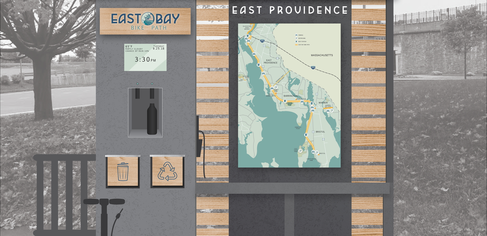 EBBP Wayfinding | Kiosk Mock Up