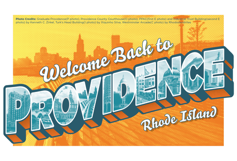 Welcome Back to Providence Postcard