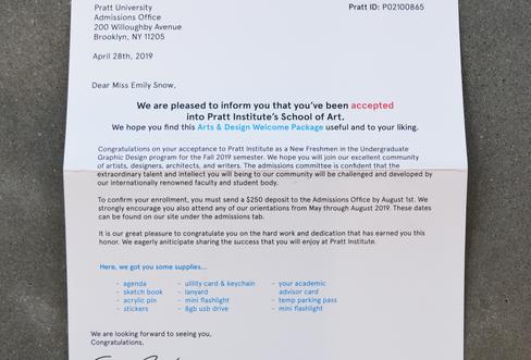 Pratt | Letter of Acceptance