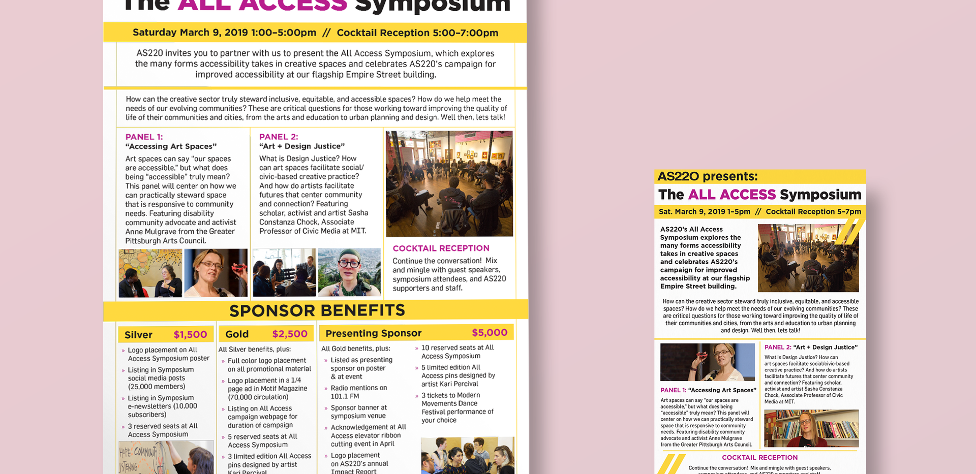 AS220 | ALL ACCESS Symposium Flyers