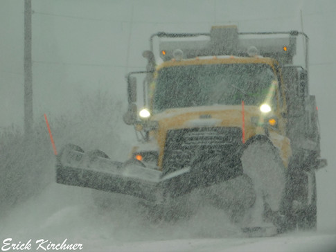 MDSHA Plow Working During a Freak November Snowstorm in Lavale, MD