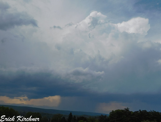 Classic Pop-Up Thunderstorm Just to the Northeast of Cumberland, MD