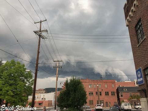 Jagged Shelf Cloud Enveloping Downtown Cumberland, MD