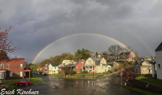 Spectacular Double Rainbow Over West-Side Cumberland, MD