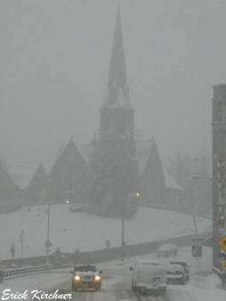 Downtown Cumberland, MD in a Winter Storm