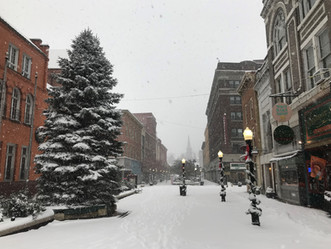 City Center in the Snow