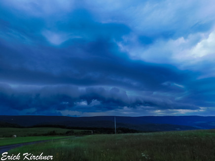 Striated Shelf Cloud Over the Western Maryland Countryside