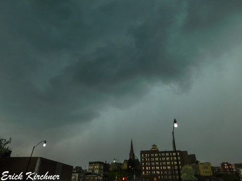 Severe Storm Looming Over Downtown Cumberland, MD