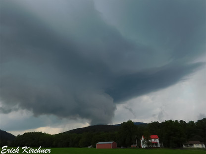 Looming Thunderstorm Over Cash Valley Rd. Near Corriganville, MD