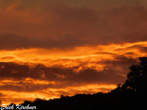 Fiery Sunset Sky Over Cumberland, MD