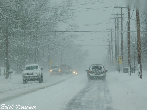 National Hwy. in Lavale, MD During a Heavy Clipper