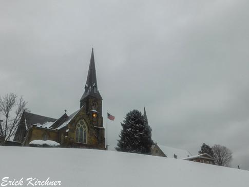 Emmanuel Parish on a Snowy Hilltop in Cumberland, MD