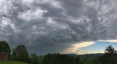 Mammatus Clouds After a Storm