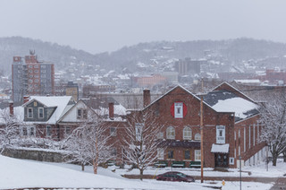 Snow-Blanketed Town
