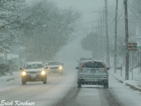 Heavy Snow Squall Impacting Travel in Grantsville, MD