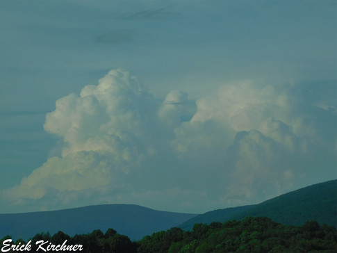 Storm Tops Over the Mountains of Western Maryland
