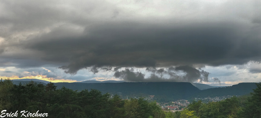Low-Topped Supercell Looming Over Cumberland, MD