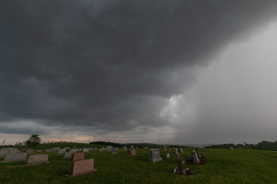 Storm Over Cemetery