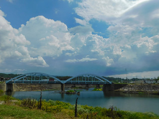 Thunderheads Over the Blue Bridge
