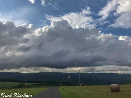 Shower Over the Western Maryland Countryside in Eckhart Mines, MD