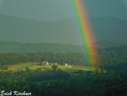 Finding the end of a Rainbow Over a Country Home in Flintstone, MD