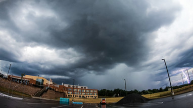 Stormy Skies With Lightning Over AHS