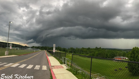 Line of Storms Surging Into Frostburg, MD