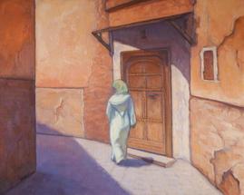 Through The Medina,  16x20, oil on linen