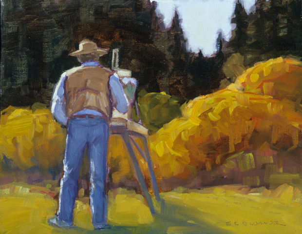 En Plein Air With John, 8x10, oil on linen