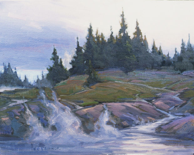 Evening On The FireHole River, 11x14, oil on linen