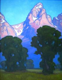 Morning On Mormon Row,  18x14, oil on linen