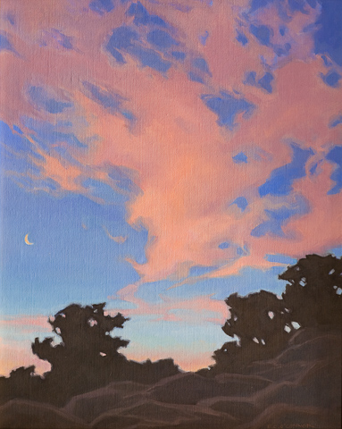 Red Sky Morning, 20x16 oil on linen