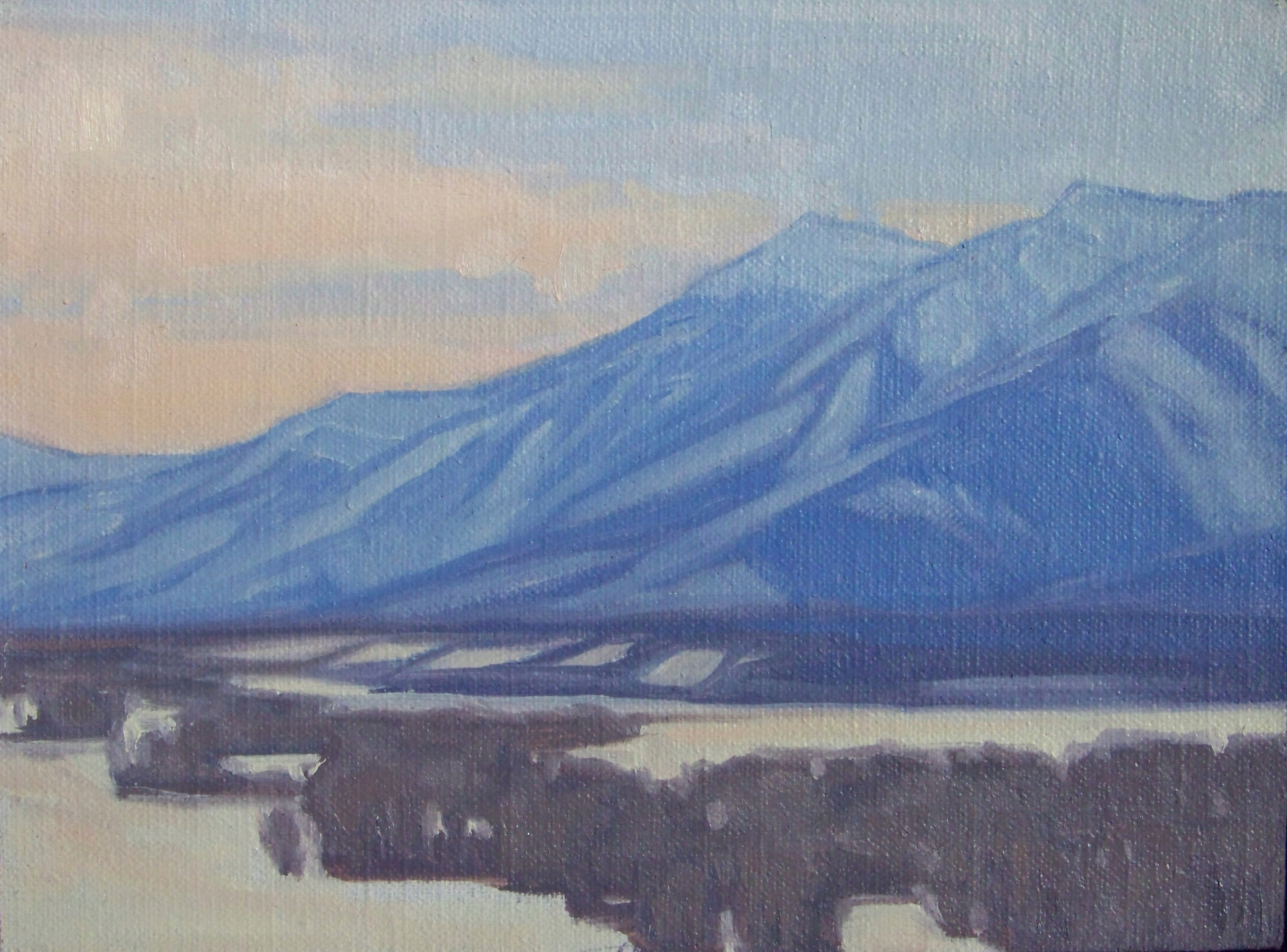 Winter Blues, 6x8, oil on linen