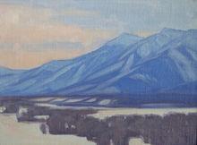 Winter Blues, 6x8, oil on linen