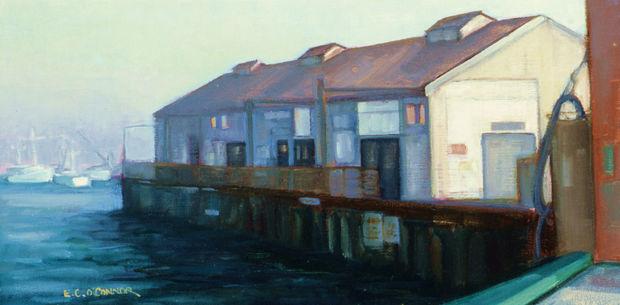 Morning In Monterey, 8x16, oil on linen