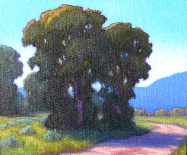A Bend In The Road, 10x12, oil on linen