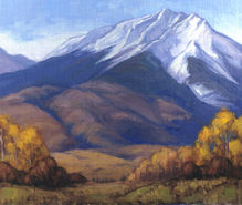 Autumn In the High Country, 12x14, oil on linen