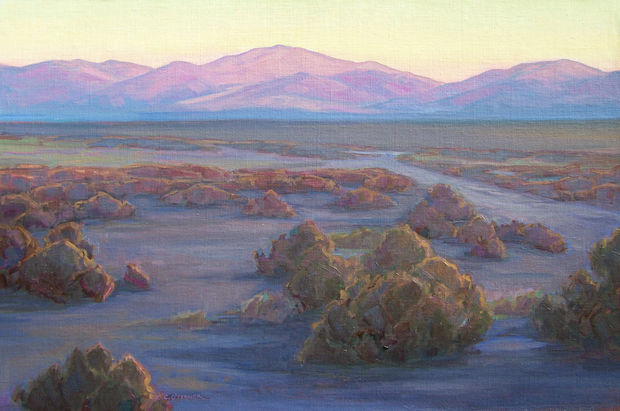 Daybreak On The Open Range, 20x30, oil on linen