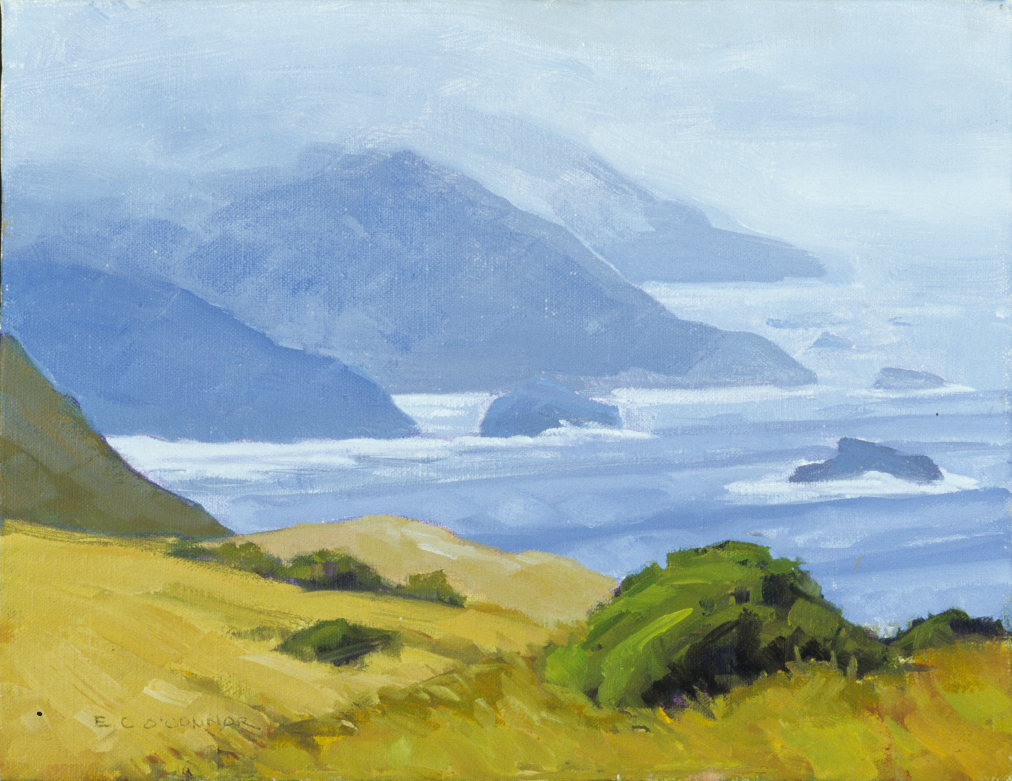 Sonoma County Coast, 9x12, oil on linen