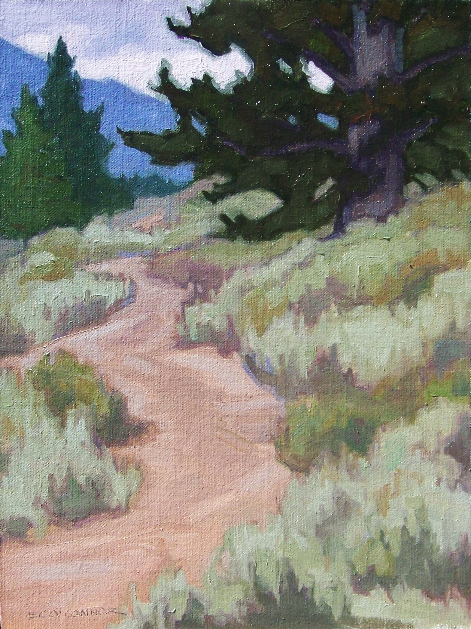 Through The Sage, 12x9, oil on linen