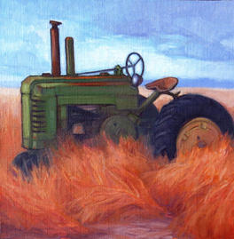 Out To Pasture,  12x12, oil on linen