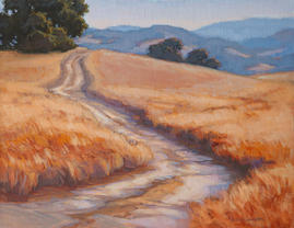 The Road Less Traveled,  14x18. oil on linen