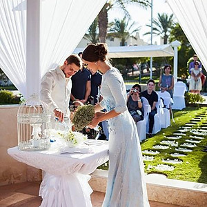 Luxury wedding in cabana in hotel - 40 guests