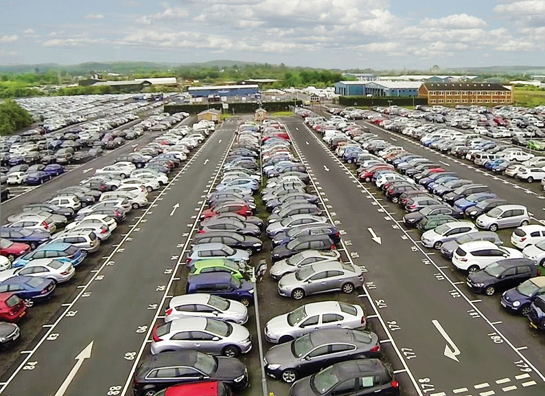 Profile car parking and reversing course
