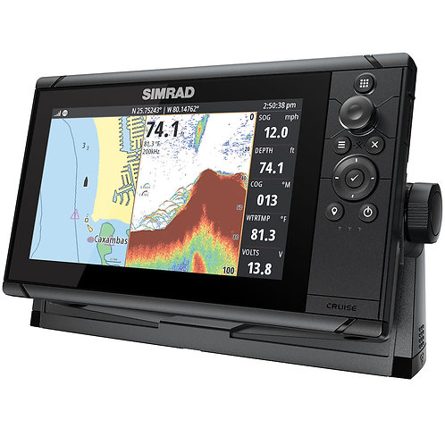 Simrad Cruise 9 Chartplotter/Fishfinder Combo with 83/200 Transducer