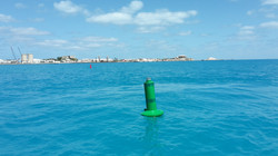 Temporary Buoys for America's Cup