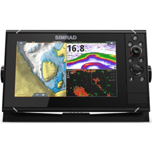 Simrad NSS evo3S 9-inch display with GPS, sounder & Wi-Fi. Inc. world basemap.